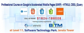 Professional Course on Google's Accelerated Mobile Pages (AMP) - HTML5, CSS3, jQuery